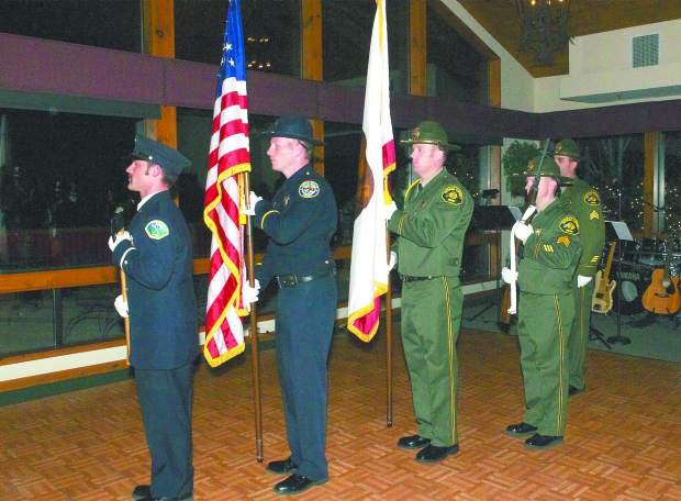 The 16th annual Red Light Ball presented by the Nevada County Law Enforcement and Fire Protection Council, Saturday evening, Alta Sierra Country Club. Multi-Agency Honor Guard.