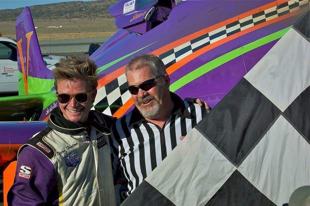 Competing at the 53rd annual National Championship Air Races in Reno, Steven Hinton, of Chino, won his seventh Unlimited Class Championship in