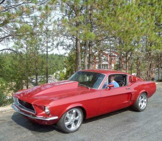 Red hot '68 Mustang Fastback