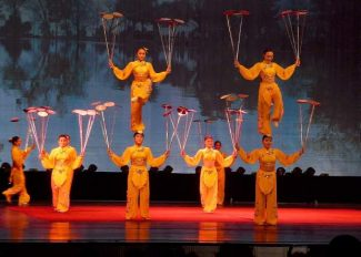 Shanghai Acrobats of the People's Republic of China perform Wednesday in Grass Valley