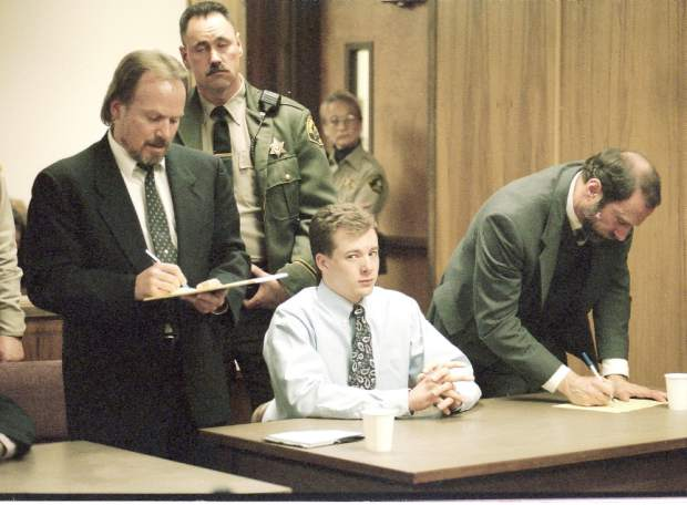 Sam Strange in Nevada County Superior Court for his homicide trial in 1996.