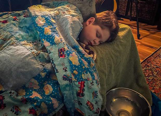 Eight-year-old Silas Hurd in his family's Penn Valley home. In 2014, Silas was diagnosed with Lennox-Gastaut syndrome, a severe form of epilepsy.