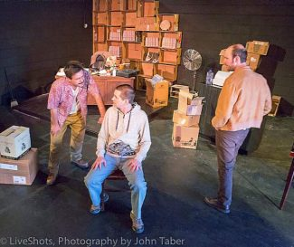 """Synthetic Unlimited's production of """"American Buffalo"""" features (from left), Gary Wright, Tom Wolfe, and Micah Cone."""