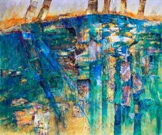 """""""Water Stories"""" by Nevada City artist LeeAnn Brook is now on display at the Center for the Arts."""