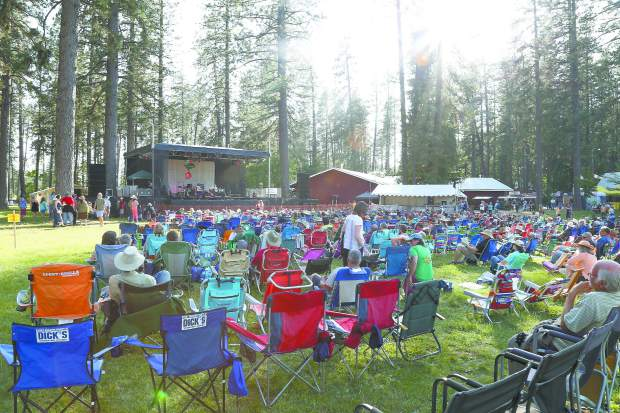 Strawberry Festival at the Nevada County Fairgrounds Friday evening.