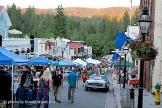 Summer Nights in Nevada City Starts tonight on Broad Street and run July 23, and 30, 2014. The event filled with arts, crafts, classic cars, food, drink, and music.