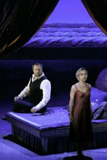 "David Daniels as the title character and Natalie Dessay as Cleopatra in Handel's ""Giulio Cesare."""