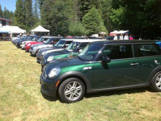 Mini Mania, a Nevada City company that provides parts and accessories for Mini Coopers, celebrated its 40th year in Business Saturday. Mini Cooper owners traveled from as far as Washington, Oregon, Nevada and San Diego for the event.