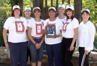 From left, Blue Star Mothers of America, Chapter 12 include Karen Olsen-Salisbury, Kathy Atkinson, Nancy Bynes, Cindy McVay, Michelle Land, Paula Grogan-Onescu, and Robin Melo