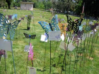 On May 24, more than 700 butterfly stakes will be installed in the Butterfly Garden of Remembrance at Hooper & Weaver Mortuary by volunteer members of Friends of Hospice. This work day is in preparation for the Memorial Day weekend event to benefit Hospice of the Foothills. The event will be from 10 a.m. to 4 p.m. on May 25, 26 and 27 for community viewing.