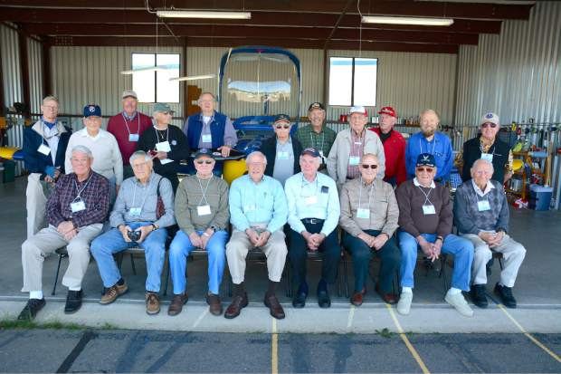 The United Flying Octogenarians (UFO) flew in the Nevada County Airport, Wednesday morning. The national organization has around 1,500 members. Their membership requires that they did fly at least once after their 80th birthday.