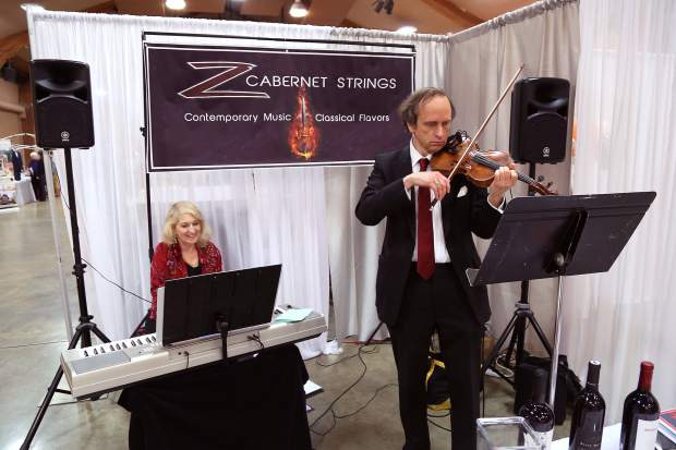 Z Cabernet Strings performs during the Wedding Fair at the Nevada County Fairgrounds Sunday afternoon.