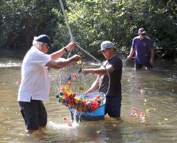 25th annual Rotary Duck Race in Nevada City Sunday afternoon.