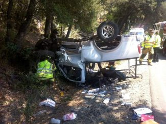 Fire units responded for a reported vehicle accident in the 15000 block of Highway 20 at 11:45 a.m. Thursday. The first arriving engine reported a single vehicle rollover. The lone occupant had self-extricated and was found sitting next to the vehicle upon arrival. The driver refused transport. One lane of Highway 20 was closed approximately one hour. There were no other injuries and CHP was investigating.