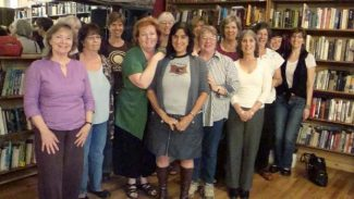 A group of previous Women's Writing Salon authors at Tomes/Sierra Mountain Coffee Roasters. The fall program is set for Saturday afternoon.
