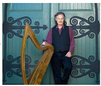 Patrick Ball plays Celtic harp Saturday at North Columbia Schoolhouse on the San Juan Ridge