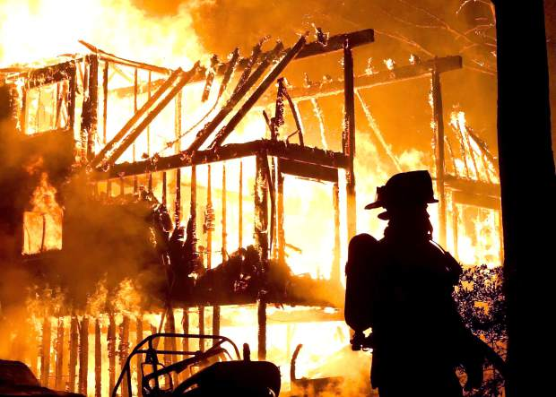 Structure fire engulfs a Cascade Shores home early Aug. 27.