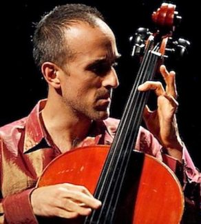 Cellist Rufus Cappadocia plays Friday at N. Columbia Schoolhouse