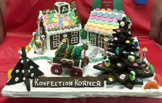 """Nevada City resident Jan Haverty's gingerbread house won """"Best of Show"""" at the Annual Country Christmas Faire at the Nevada County Fairgrounds."""