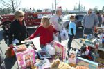Toys are donated to the 27th annual Roamin Angels Toy Drive in Grass Valley Saturday morning. Forty families receive toys and the rest go to Salvation Army Church.