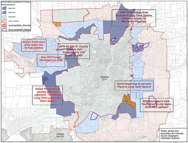 Nevada City To LAFCo Hands Off Our Sphere Of Influence TheUnioncom - Nevada city map