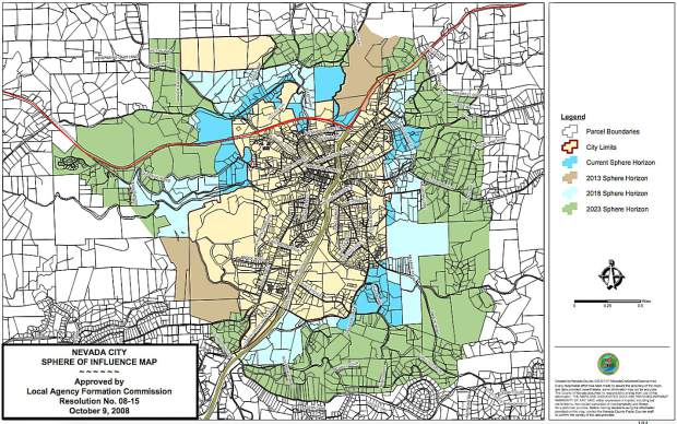 LAFCo Suggests Removing Acres From Nevada City Sphere Of - Nevada city map