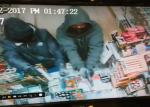 A still shot taken from surveillance footage of the Monday robbery of the Hot Spot Smoke Shop.