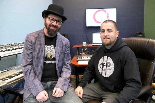 """Cactus Skidoo and producer/performer Spends Quality collaborated on much of Secret Agent 23 Skidoo's Grammy Award-winning album """"Infinity Plus One"""" at Quality's Nevada City studio, Cedarsong Sound."""