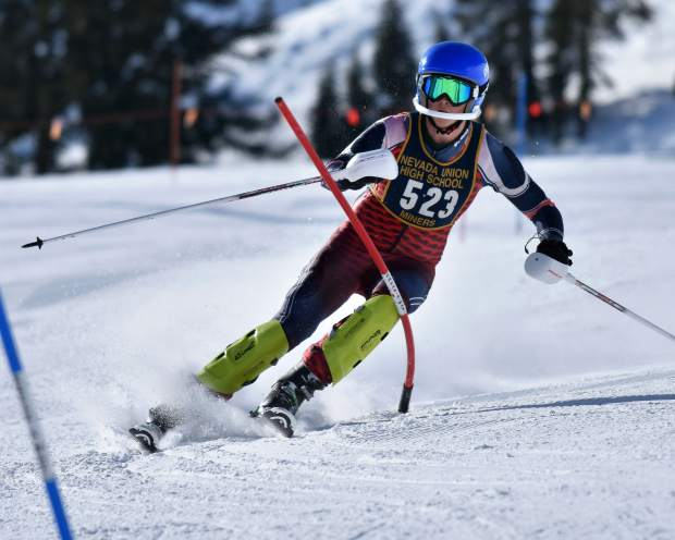 Nevada Union's Wyatt Curtis will be competing in the boys slalom race at the state championships.