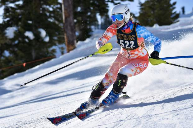 Sarah Brennan Nevada Union alpine ski Nevada Union's Sarah Brennan led the Miners alpine ski team with a second place finish in the girls slalom race at Alpine Meadows Monday. It was her second straight second place finish and third top-5 finish through three races this season.