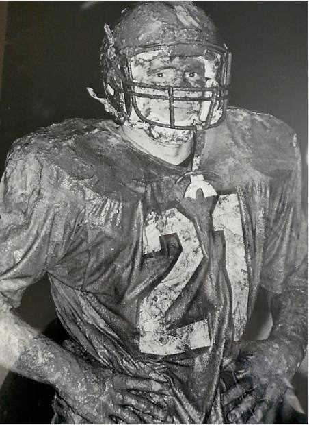 During his time as a player at Nevada Union Dennis Houlihan played football, basketball and tennis. He was best known for his prowess on the gridiron, rushing for 1,275 yards and 12 touchdowns his junior year and 970 yards and 10 touchdowns in just seven games in his senior year. He was also a strong receiver out of the backfield with more than 1,200 yards receiving between his junior and senior seasons. In his senior year, the Miners went 9-1-1 and won the league championship. Houlihan was an All-League player in his junior and senior seasons and was All-Metro his senior season.
