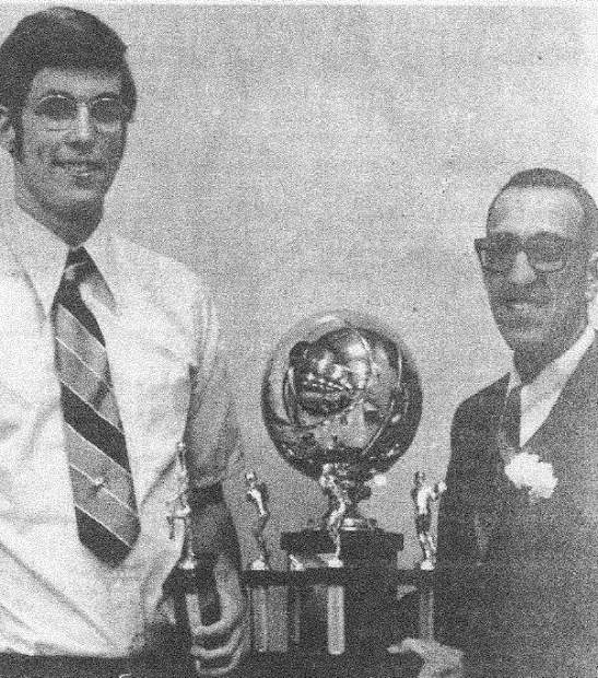 As a student at Nevada Union, Brett Taylor, left, was impressive on the basketball court, leading the Miners in scoring, rebounding, shooting percentage and free throw percentage in his junior and senior seasons. He was named to the All-Sierra Foothill League team in both those seasons and earned the Gene Jenkins Award which goes to Nevada Union's Most Outstanding Basketball Player.