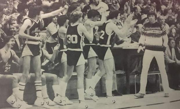 Kermit Young, far right, coached at Nevada Union from 1976-1983 and in that time collected five Sierra Foothill League championships, five Coach of the Year Awards and Nevada Union's only section championships in boys basketball (1981, 1982).