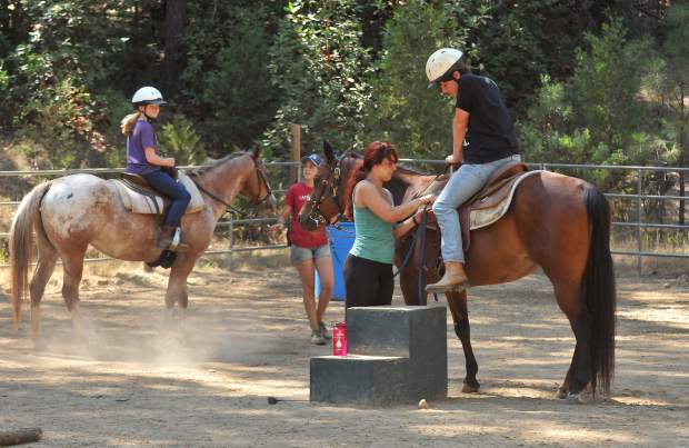 Equestrian activities at Camp Augusta range from beginner to more experienced.