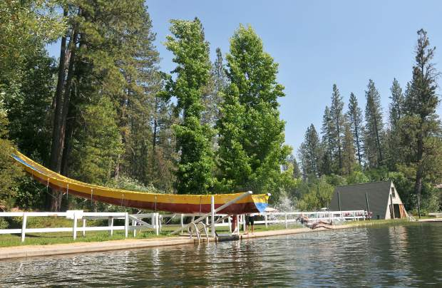 A Salvation Army Camp Del Oro camper shoots out the end of