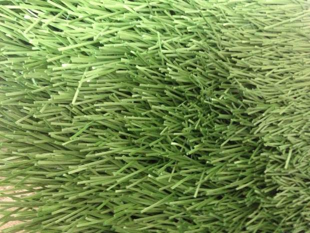A sample of FieldTurf's Revolution 360 turf that will be installed in Nevada Union's Hooper Stadium.