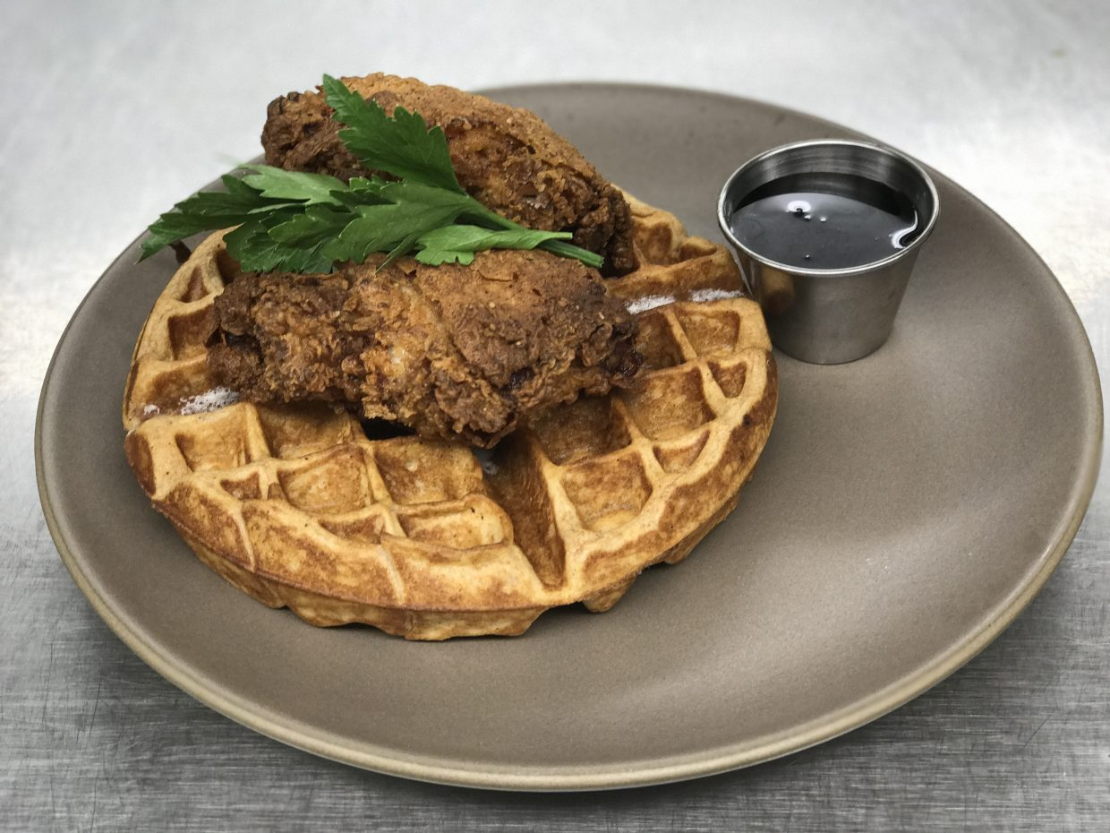 Chicken and waffles another brunch option