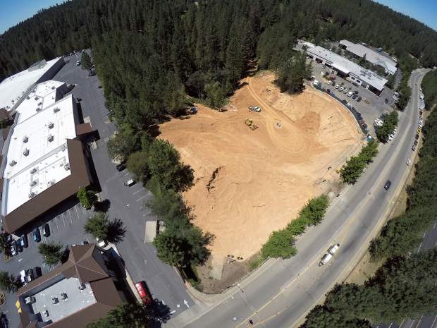 Aerial view of the Grass Valley sinkhole taken July 11.