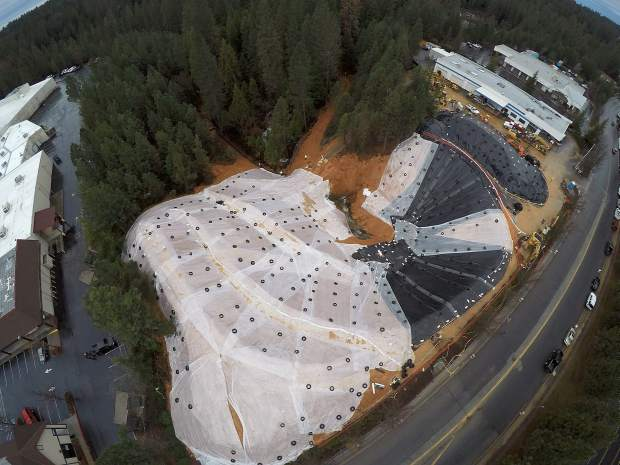 Aerial view of the Grass Valley sinkhole taken January 18.