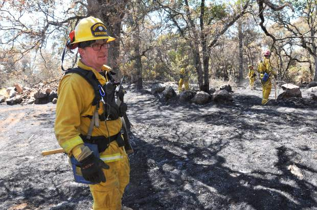 City of Grass Valley Firefighter Anthony Scarafiotti explains that even though they were assigned to type 1 protection, they have done a lot of type 3 protection, which directly involves fighting the fire.