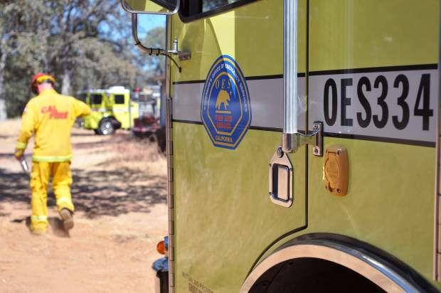 California Office of Emergency Services Engine 334, out of Grass Valley, was deployed to the Wall Fire early Sunday morning and have been working 24 on and 24 off shifts since then.
