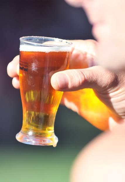 Beers from over 20 participating breweries were available during Saturday's brewfest benefiting Music in the Mountains.