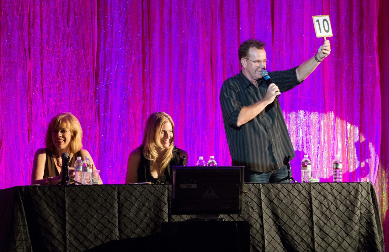Celebrity judges make the event even more fun for the crowd. Photo by John Taber