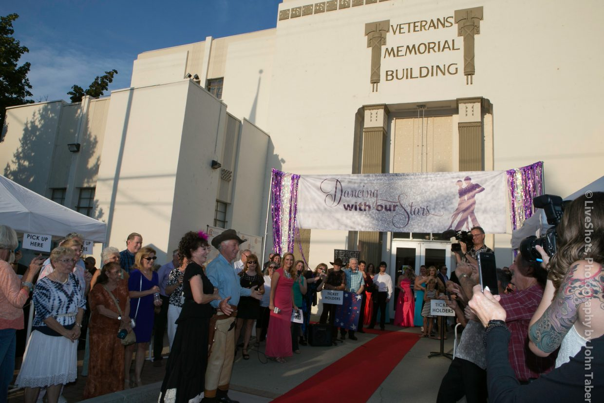 The outside of the Vet's Hall transforms into a magical red carpet experience on August 26. Photo by John Taber