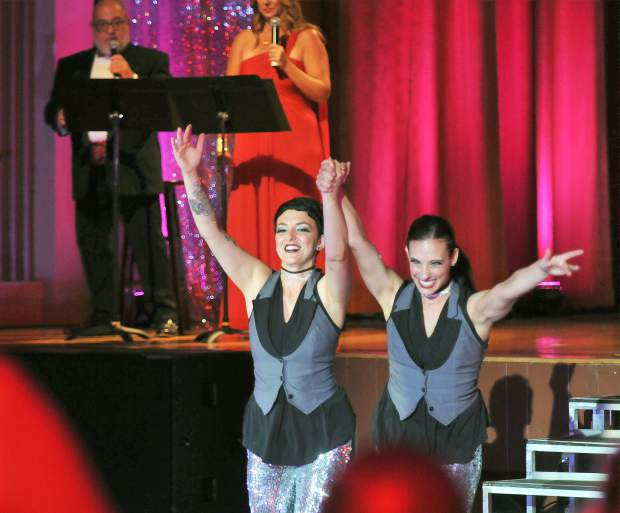 Marissa Hernandez (left) and Haven Caravelli take the stage for their dance performance.
