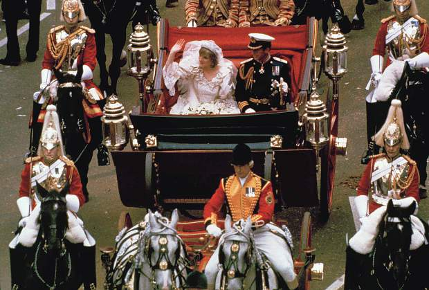 The British Royal Wedding of Prince Charles and Lady Diana was a worldwide event.