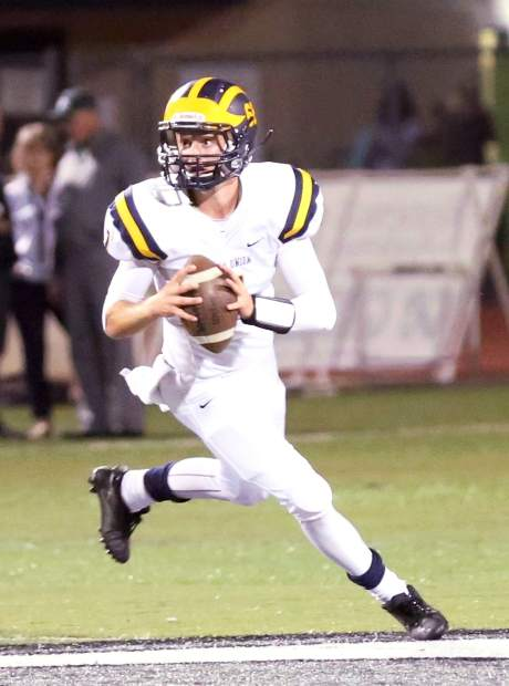 Nevada Union quarterback Owen Dal Bon was named All-Sierra Foothill League Honorable Mention in 2016. He is back as NU's signal caller again this year.