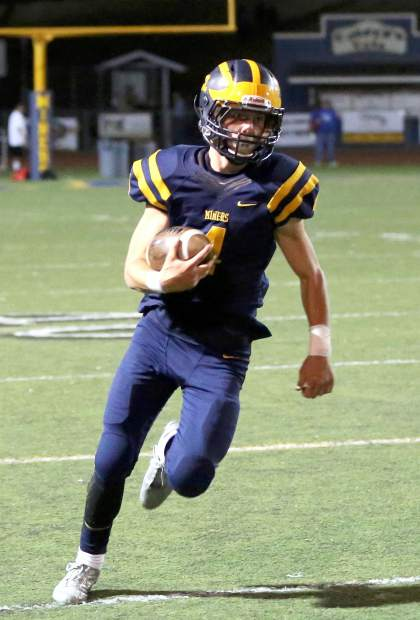 Nevada Union's Dawson Fay was named to the All-Sierra Foothill League Second Team in 2016. Fay rushed for more than 700 yards and scored nine touchdowns in his sophomore season. He will be toting the ball once again for the Miners this season.