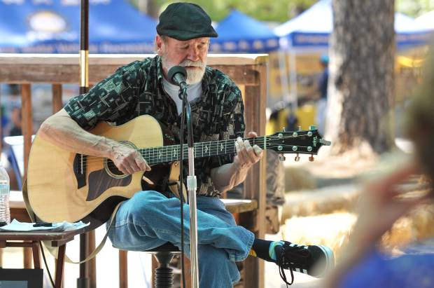 Musician Chris Crockett played from his large reportoire of classic tunes and took requests from the audience at the Foundation Station Friday at the 2017 Nevada County Fair.