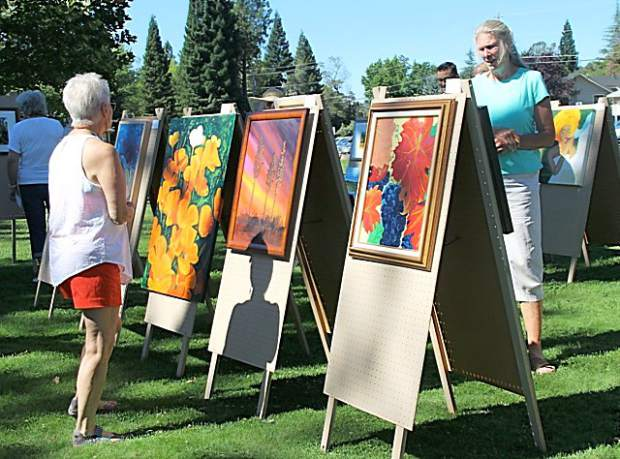 The Lake Wildwood Art and Photography Club's annual Art Flair exhibit at Commodore Park in June.